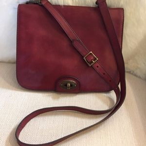 Fossil Leather Messenger/Cross-body